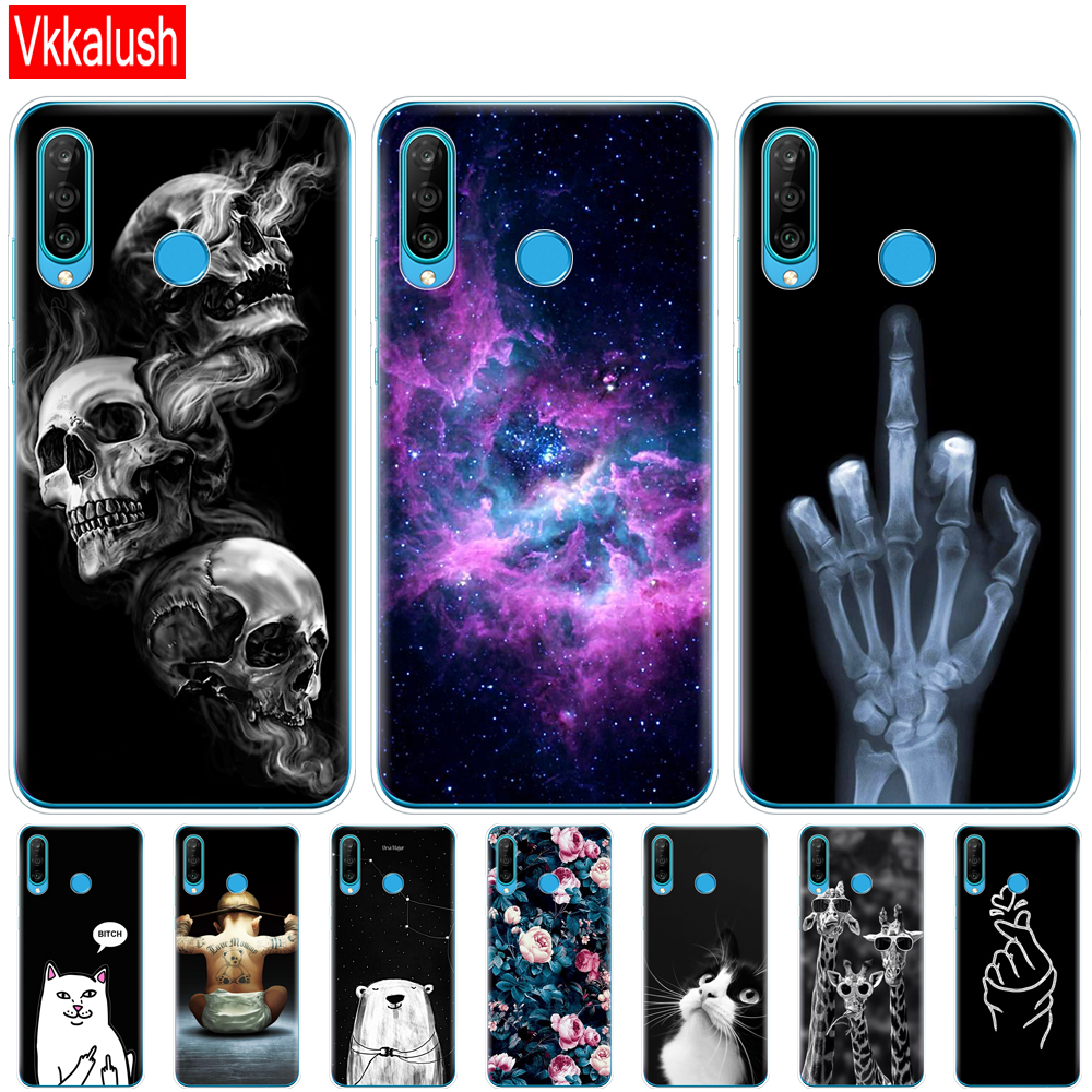 Mobile Phone Bag Case For Huawei P30 Pro Case Silicon TPU Phone Back Cover On Huawei P30 Pro VOG-L29 ELE-L29 P 30 Lite Case