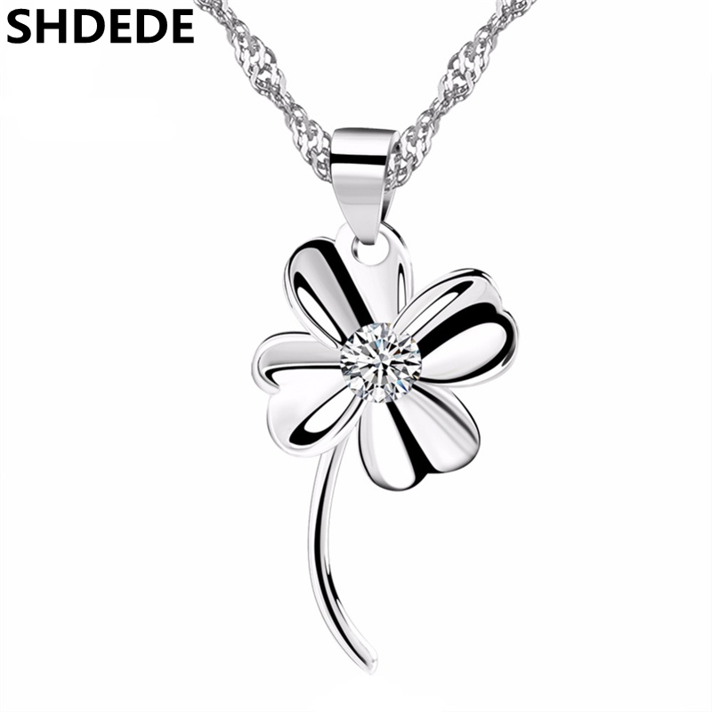 bf35c842404e75 SHDEDE Four Leaf Clover Jewelry Crystal from Swarovski High Quality Pendant  Necklaces For Women Trendy Accessories Party Gift -