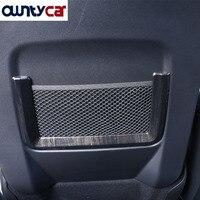 For Land Rover Discovery Sport ABS Black Ash Wood Grain Rear Row Net Bag Frame Trim