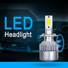 Автомобильный светильник авто лампы H7 светодиодный H4 H11 Автомобильный светодиодный H1 H3 H13 880 9004 9005 9006 9007 72 Вт 8000LM Автомобильный светодиодный головной светильник s 6000K