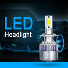 New Car Light Auto Bulbs H7 LED H4 H11 CAR LED H1 H3 H13 880 9004 9005 9006 9007 72W 8000LM Car LED Headlights 6000K(China)