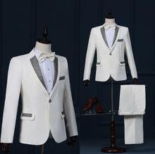 Paillette formal dress latest coat pant designs mariage groom wedding suits for men blazer boys prom suits singer dance stage