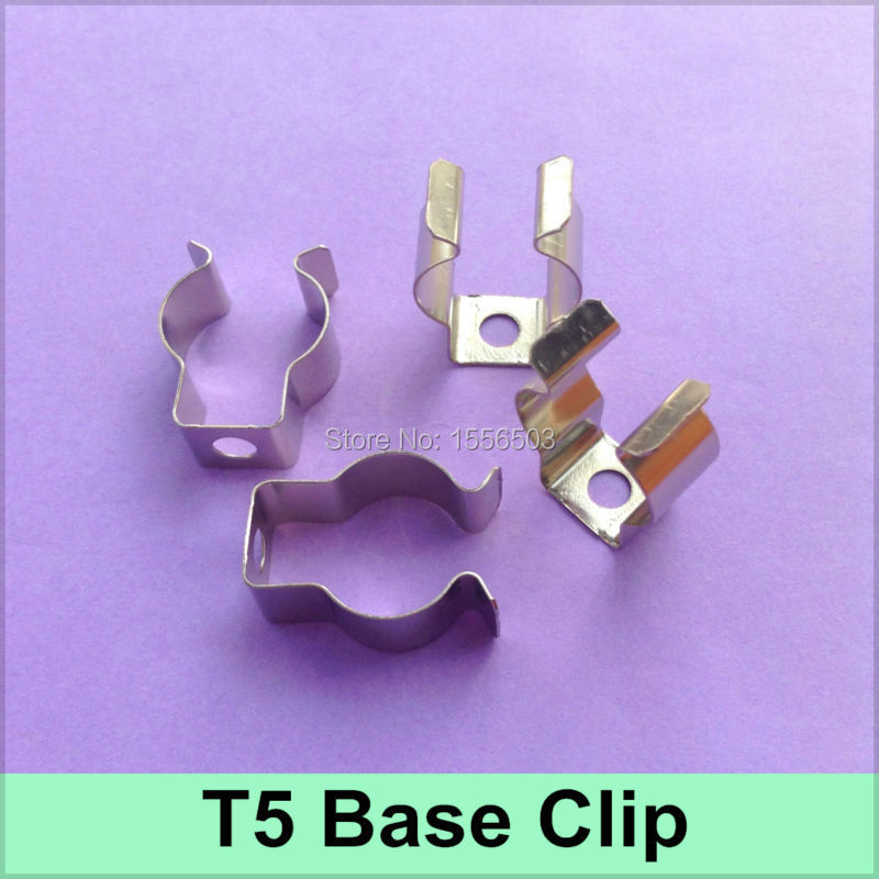 1000 Pcs lot Tube Light T5 Clip For Fluorescent lamp T5 Base Holder Metal Clips Connector