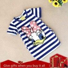 Girls Dress Brand Kids Girl Clothes Cartoon stripe Pattern Design Summer Children Clothing Princess Dresses Vestidos