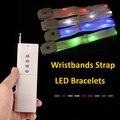Fashion Led Bracelet With Remote Control Glowing Wristbands Strap Bracelet Nylon Bangles Bracelets for Party Event Decor 50pcs