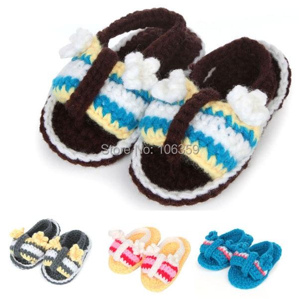 Baratos Zapatos de bebé ganchillo patrón zapatos del bebé del verano ...