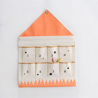 ROSEHOME 24 Grid Wall Hanging Storage Bag Organizer Cotton Wardrobe Closet Jewelry Holder Cosmetic Sundries Underwear