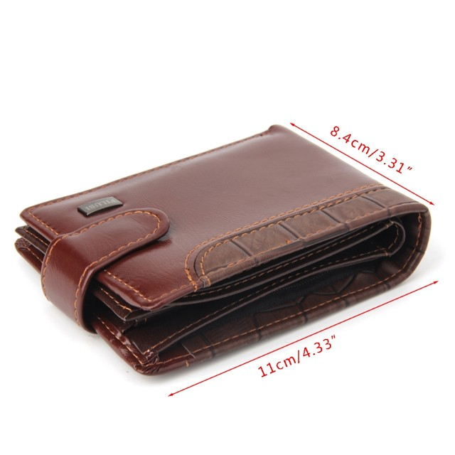 616e2b0478ed THINKTHENDO Chic Men Leather Wallet Vintage Coin Purse Clutch ID Credit  Card Holder Billfold-in Wallets from Luggage & Bags on Aliexpress.com | ...