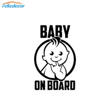 10*15cm Eating fingers Baby on Board Car Decal Vinyl Cars Stickers For Trunk Bumper Decor Safety Sign Decals White Black L1028 cheap Glue Sticker cartoon 10cm 0inch Car Body Felizdecor