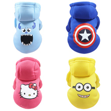 Cartoon Dog Hoodie Pet Dog Clothes For Dogs Coat Jacket Cotton Ropa Perro  French Bulldog Clothing For Dogs Pets Clothing Pug