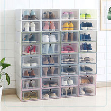 Shoe Organizer Drawer Transparent Plastic Shoe Storage Box Rectangle PP Thickened Shoes Organizer Drawer Shoe Boxes ! shoe box transparent pp plastic box storage transparent plastic stackable shoe box storage container storage box l517