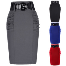 New Style Women Skirts Sexy Pencil Rib Knit Long Package Hip Split Waist midi Ladies Skirt Office Clothes