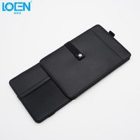PU Leather Auto Car Sun Visor Organizer Pouch Bag Card Glasses Holder Multi-Purpose Storage Bag Stowing Tidying Car-styling