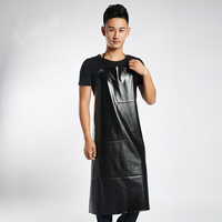 High Quality Oil Proof Waterproof PVC Aprons Sleeveless Cooking Work Aprons Kitchen Restaurant Hotel Cleaning