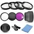 UV CPL FLD Lens Filter and Close Up Macro +1 +2 +4 +10 Accessory Kit 49mm 52mm 55mm 58mm 62mm 67mm with a cap lens rope cloth
