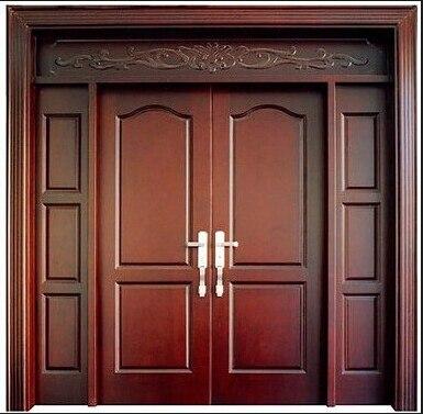 Elegant 2015 Wooden Double Door Design Main Door Design