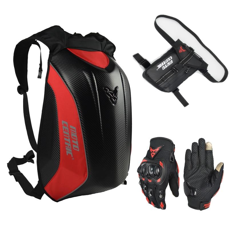Motocentric Black Bags & Luggage Motorcycle Backpack Motorcycle Trunk Box Waterproof Motorcycle Backpack Carbon Fiber