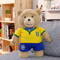 Recording and Say I LOVE YOU Teddy Bear Plush Ted 2 Stuffed Soft Doll Wear Apron Superman Clothes Kids Toy Birthday Gifts