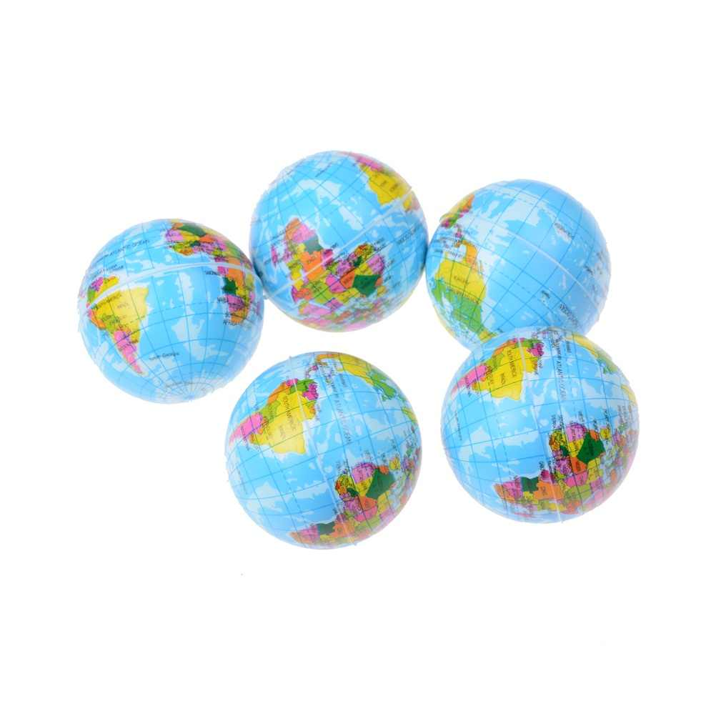 63mm Earth-shaped Baby Early Educational Teaching Tool Ball Globe Toy Ball Kids Geography World Map Baby Stress Bouncy Ball
