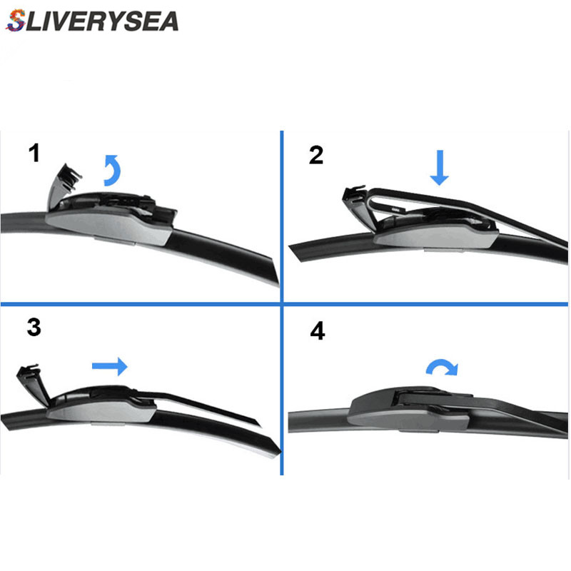 SLIVERYSEA Wiper Blades For KIA Sorento 2002 2010 24 quot 18 quot High Quality Iso9001 Natural Rubber Clean Front Windshield F03 in Windscreen Wipers from Automobiles amp Motorcycles