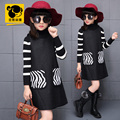sundress teenage girls clothes 12 years kids costumes red black children vintage clothing winter woolen dress european style