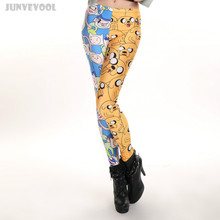Fitness Clothing Bottom Women's Patchwork Leggings Funky 2017 Sexy Women Beach Slim Long Pants 3D Cartoon Tattoo Printed Capris