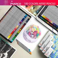 Andstal 24/36/48/72 Colors Marco Raffine Fine Artist Oil Color Pencil Set for drawing sketch Colour colored pencils school lapiz