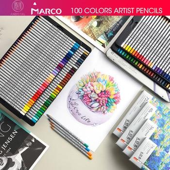 Marco 24/36/48/72 Colors Raffine Fine Artist Oil Color Pencil pack set Andstal for drawing Colour colored pencils school csqb024 24 in 1 colored drawing pencils set