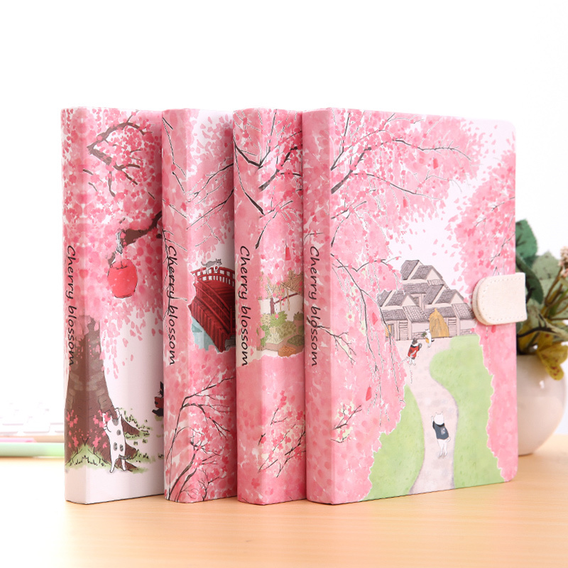 Sakura Cat ver.2 Journal Diary Hard Cover Cute Journal Study Notebook Lined Papers