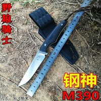 Sharp Handmade Tactical pocket knife M390 blade carbon fiber handle outdoor survival hunting knife EDC Belt clip rescue tool