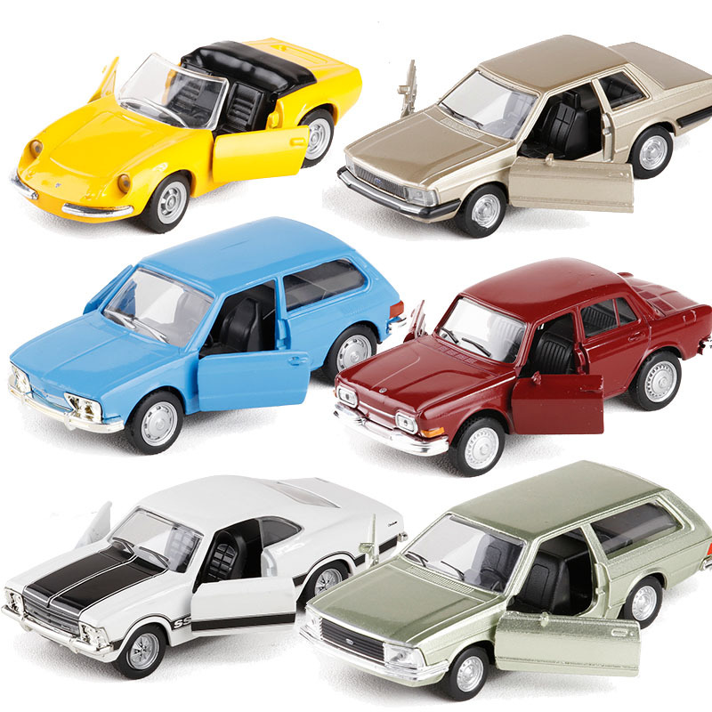 High simulation retro vintage brazilian vintage classic car 1:38 alloy pull back car toys collection model