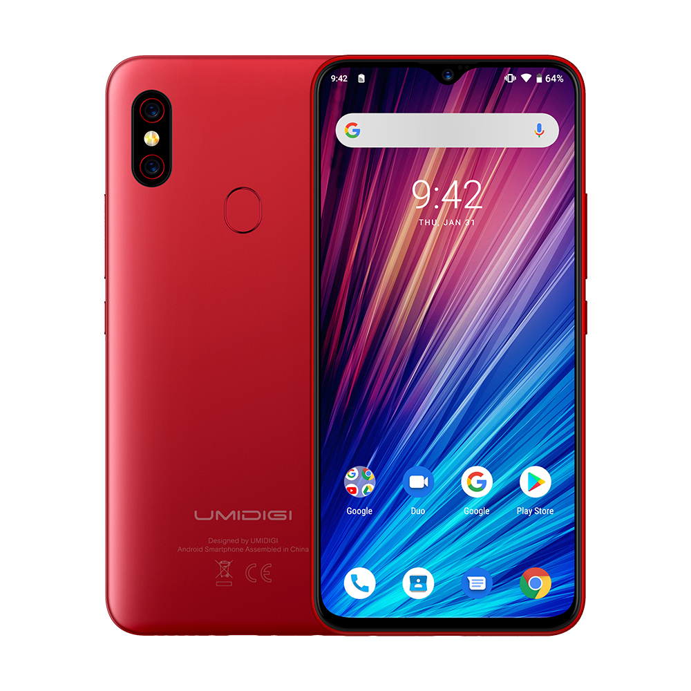 "Image 2 - UMIDIGI F1 Play Android 9.0 48MP+8MP+16MP Cameras Mobile Phone 6GB RAM 64GB ROM 6.3"" FHD+ Helio P60 Global Smartphone Dual 4G-in Cellphones from Cellphones & Telecommunications"