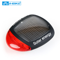 INBIKE 태양 전원 LED 자전거 조명 미등 야간 안전 경고등 산악 자전거 승마 장비 사이클링 액세서리 015