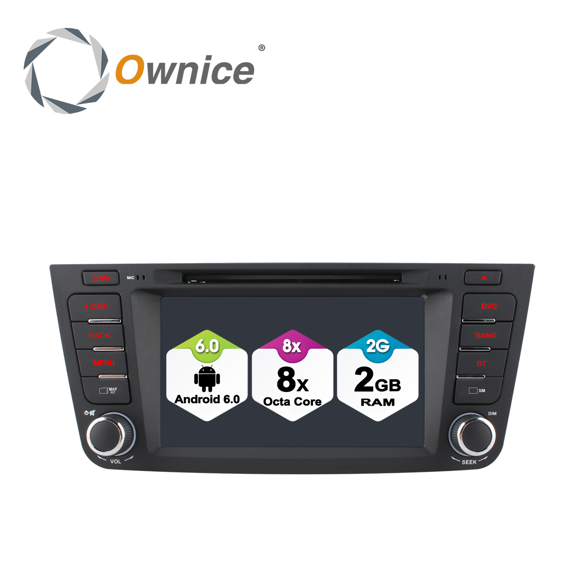 Ownice C500 Octa 8 Core Android 6.0 2 DIN lecteur DVD de voiture pour Geely Emgrand X7 EX7 GX7 avec 1024*600 2 GB RAM 32 GB ROM support 4G