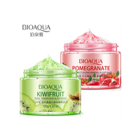 BIOAQUA Sleeping Face Mask Cream 120g No Wash Pomegranate Kiwif fruit Snail Soothing Gel Night Cream Skin Care for Moisturizing Face Mask & Treatments