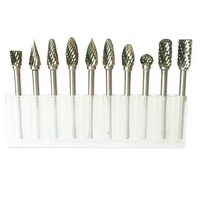 10pcs Tungsten Carbide Burs Sets Rotary Mini Drill Accessories Dremel Drill Grinding Burrs Tungsten Sharpening Drill