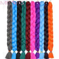 Miss perruque 82 pouces 165g tressage synthétique cheveux Jumbo tresses Crochet tresses Extensions de cheveux coiffures couleur Pure