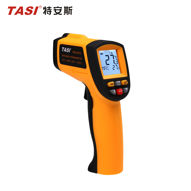 TASI-8612 IR thermometer ,Non-contact thermometer (-50 ~ 900 degrees), Industrial temperature measurement  with tool Box tasi 8606 infrared thermometer 32 380 degrees infrared thermometer non contact thermometer industrial and household