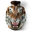 Hoodies homens hip hop camisola engraçada 3D Tigre Leão marca de moda plus size 3XL homens do hoodie treino unisex capuz