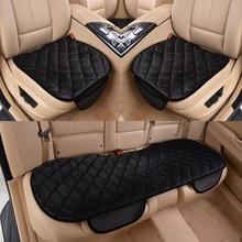 Чехол для автомобильного сиденья, подушка, зимняя, универсальная, передняя, задняя, чехлы для сидений, подушка для автомобильного кресла, автомобильные принадлежности, квадратный стиль, роскошный, теплый