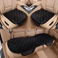 Capa de assento do carro almofada inverno universal frente traseira assento cobre cadeira carro suprimentos carro estilo quadrado luxuoso quente