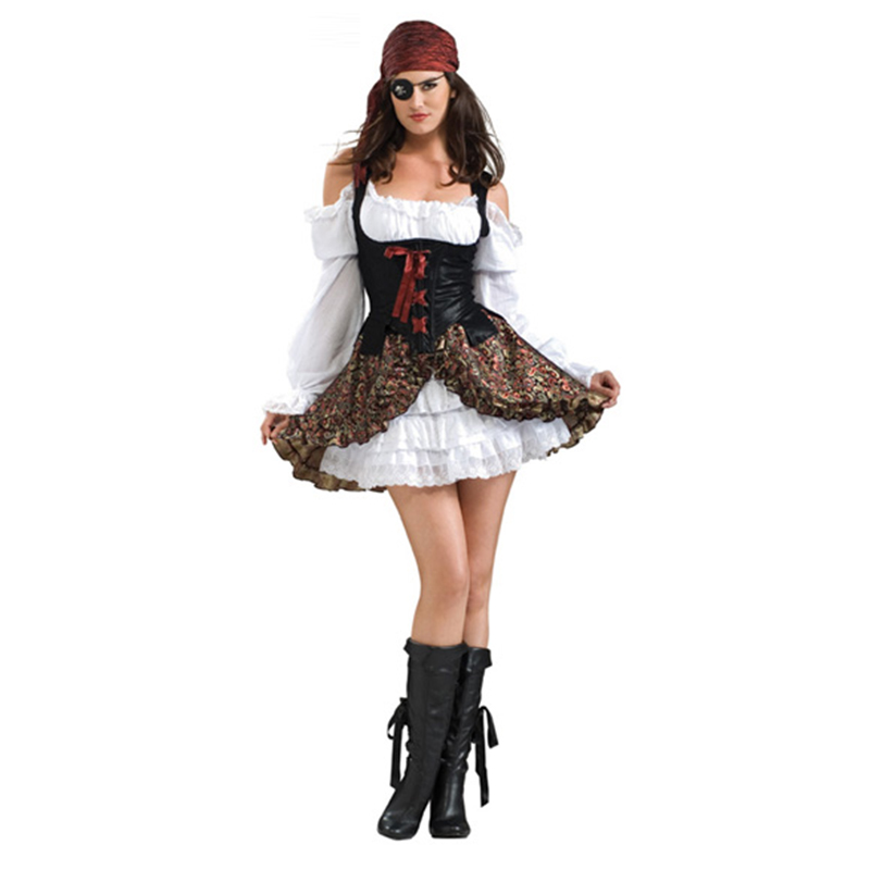 Pirate Costume Women Adult Devil Pirates Costumes Halloween Carnival Fantasia Fancy Dress Caribbean Pirates Cosplay Costume