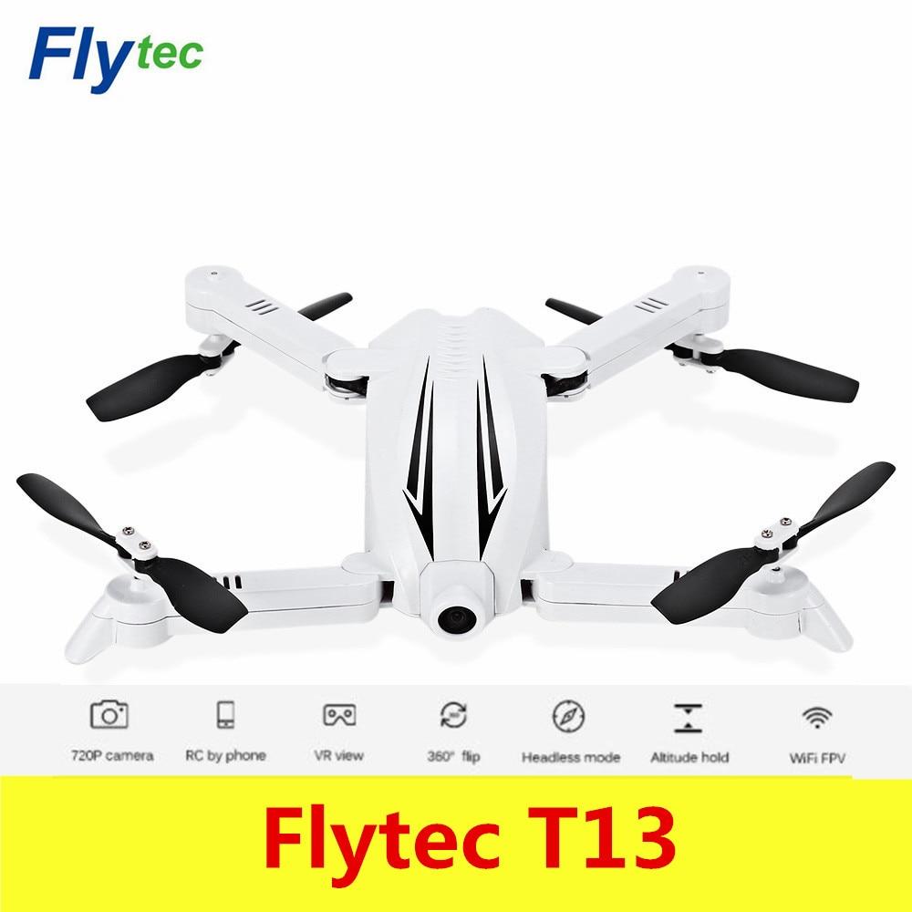 Flytec T13 3D Складная RC Quadcopter Wi-Fi FPV 720 P Камера 2.4 г 4CH высота Удержание headless режим 360 unlimited флип беспилотный летательный аппарат