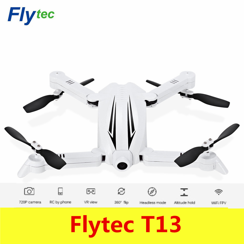 Flytec T13 3D Складная RC Quadcopter Wi-Fi FPV 720 P Камера 2.4 г 4CH высота Удержание h ...