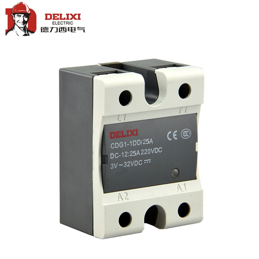 DELIXI CDG1-1 10A 20A 40A 60A 80A <font><b>100A</b></font> Single SSR Solid State Relay <font><b>DC</b></font>-AC <font><b>DC</b></font> Control AC No Contact image