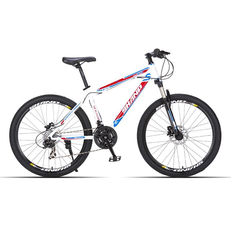 SHANP Mountain Bike Steel Frame 24 Speed Shimano Disc Brakes 26 Wheel lauxjack mountain bike steel itself 24