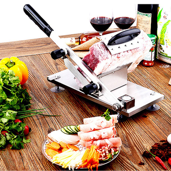 IYouNice Manual mutton slicer household meat slicer mutton slicer meat machine commercial beef mutton roll cutting machine