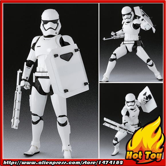 BANDAI Tamashii Nations S.H.Figuarts (SHF) Exclusive Action Figure - First Order Stormtrooper Shield & Baton Set