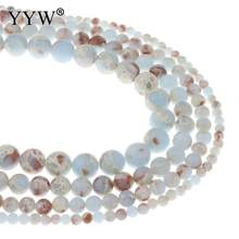 YYW New Arrival Aqua Terra Gem Stone Beads Natural Round Fashion For Jewelry Necklace Bracelet Making For Lady gift Wholesale(China)