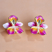 2015 Statement New Arrival Luxury Clover Esmaltes Pendientes aretes brincos Clip Bijou Earrings For Women Feminino Free Shipping